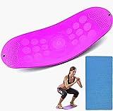 Chunktoxic Twisting Fitness Balance Board, Yoga Gym Workout Training Board, Bauchbein, Für Ganzkörpertraining Wackelbrett Bauchbein Wobble Balance Übung Boards (E)