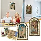 2PC wanddekoration Wanddeko Holzschild – im Vintage-Look mit Zitat als Geschenk und Dekoration zum Thema Toilette Wandbilder, Innen Außen Garten Geschenk Idee Wandschmuck Wand Deko (C3)