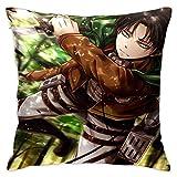 Bosbweo Attack on Titan Sofabezug Wohnzimmer Sofabezug Bauernhaus Dekoration Dekorative Kissenbezug 45,7 x 45,7 cm