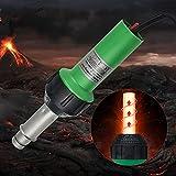 InLoveArts Heißluftpistole schweißen,1600 W 30-680 ℃ Heißluftpistole mit Geschwindigkeitsdüsen Rolle Pe PVC-Kunststoffstange, Geräusch ≤ 65 dB zur Reparatur von Kunststoff,Kunststoffschweißg