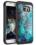 BENTOBEN Samsung Galaxy S7 Hülle, Handyhülle Samsung S7 stoßfest Schutzhülle Mandala Nebula Muster Hybrid PC Schale TPU Cover Hülle für Samsung Galaxy S7 G930 Fluoreszenz