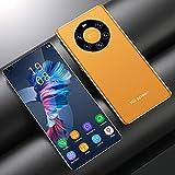 RUBAPOSM Kein Vertrags-Android-Smartphone, Handy mit Dual-SIM-3G-netz, 2+5MP HD-Kamera, 2+16GB Speicher (Erweiterbar), 4 Core, Face Unlock,Gelb