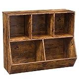 HOOBRO Kommode Schrank mit 3 Fächern, Bücherregal, 2 Kippboxen, großer Stauraum, Stabil, kinderregal, Multifunktional, für Schule, Flur, Schlafzimmer, Arbeitszimmer, Dunkelbraun EBF32CW01