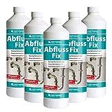 HOTREGA Abfluss Fix Konzentrat 1 Liter Sets - Abflussreiniger, Rohrreiniger, freier Abfluss, Mengen:5