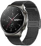 ANMI Smart Watch, Fitness-Tracker 1,3 Zoll Armbanduhr mit wasserdichte,MitBlutdruck, Herzfrequenzmesser, Fitness Uhr für Männer, Frauen, Edelstahl Band für Android iOS (Schwarz Stahl)