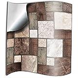 Tile Style Decals 24 stück Fliesenaufkleber für Küche und Bad 24xNTP 0-6'-Multi Mosaic | Mosaik Wandfliese Aufkleber für 15x15cm Fliesen | Fliesen-Aufkleber Folie | Deko-Fliesenfolie für Küche u. Bad