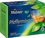 Meßmer Pfefferminze   50 Teebeutel   Vegan   Glutenfrei   Laktosefrei