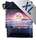 Silkrafox XL - extragroßer, ultraleichter Schlafsack, Hüttenschlafsack, Inlett, Sommerschlafsack, Kunst- Seidenschlafsack, blau