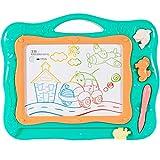 MalPlay Zaubertafel für Kinder   33 x 29 cm   Bunte Schreibtafel Zeichentafel mit 2 Stempel   Reisegröße Lernspielzeug für Kinder ab 3+ Jahre