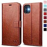 OCASE iPhone 11 Hülle Handyhülle [Premium Leder] [Standfunktion] [Kartenfach] [Magnetverschluss] Tasche Flip Case Cover Etui Schutzhülle lederhülle klapphülle für iPhone 11 Braun