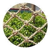 DELIMITE Hanfseil Schutznetz, Balkongeländerschutz Net, Innenwandbehänge Dekoration Automotive Frachtnetze Gartennetze (Size : 3 * 6m(10 * 20ft))