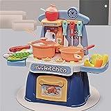 XXSHN Kinderküchen-Spielsets mit Lichtern und Geräuschen für Jungen Mädchen, Spielen Küchenset Kidkraft Large Toys Geschirr Geschirr Gutes Geschenk für Kinder