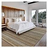 Teppich, modern, schlicht, natürlich, handgenäht, Sisalteppich, 13 x 19 cm, für Schlafzimmer, Wohnzimmer, Heimdekoration, Teppich (Größe : 7,6 x 10 cm)