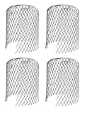 4er Set Rinnensieb Metall Dachrinnenschutz Fallrohrschutz Laubsieb Laubfang Blättersieb Blätterschutz Regenrohrschutz Schutzgitter Laub Verschmutzung Moos