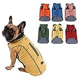 Hundemantel Winter Warme Jacke Weste, 7 Größen für Kleine Mittlere Große und Riesige Hunde, Winddicht Schneeanzug Hundekleidung Outfit Weste Haustiere Bekleidung (S, GELB)