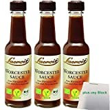 Lacroix Worcestersauce 3er Pack (3x140ml Flasche) + usy Block