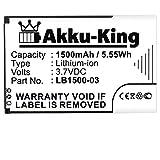 Akku-King Akku kompatibel mit Huawei LB1500-03 - Li-Ion 1500mAh - für T5, E5331, ideos X5, Trekstor WLAN, T-Mobile Pulse, 4G Systems XSBox GO WLAN Hotsp