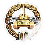 World of Tanks Medaille Großkaliber Panzer Sticker, One Size, Transparent glänzend
