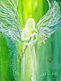 silwi-art***** Engelbilder Erzengel Raphael Poster 30 x 40cm Schutzengelbild Praxisdeko Geschenkidee Genesungsgeschenk