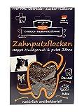 Qchefs Hunde Zahnputzflocken | Zahnpflege- Snack| Zahnpulver| Hundeleckerlie| Zahnsteinentferner | gegen Mundgeruch & Zahnfleischentzündung | Hüttenkäse- natürlich antibakteriell- jodfrei - alle