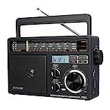 Retekess TR618 Tragbares Radio FM AM SW-Radio für Ältere Menschen, Analoges Kurzwellenradio,Unterstützt USB-Disk,TF-Karte, SD-Karte,mit Kopfhörerbuchse, Wechselstrom oder Akku (Dunkelgrau)