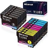 Hicorch Ersatz für Epson T1281 T1282 T1283 T1284 T1285 Patronen Kompatible mit Epson Stylus S22 SX125 SX130 SX230 SX235W SX420W SX425W SX430W SX440W SX445W BX305FW (6 Schwarz,3 Cyan,3 Magenta,3 Gelb)