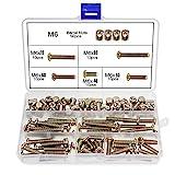 100 Stück M6 Zylindermuttern Schrauben, M6 x 40/50/60/70 / 80mm, Zylinderschrauben, Schraubenmuttern-Sortiment, für Möbelbetten, Kinderbett und Stü
