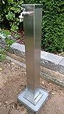 Wasserzapfstelle aus Edelstahl mit 1/2 Zoll Wasserhahn und Abdeck