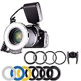 HAOXUAN Kamera-Ringlicht RF-550 Mit 48 Makro-LED-Ringblitzen, Geeignet Für Sony-, Nikon-, Canon-, Olympus-, DSLR-Kamerablitz/Externen Blitz