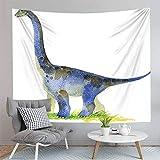 shuimanjinshan Cartoon Tiere Wandbehang Teppich Strandmatte Dinosaurier Tapisserie Decke Yoga Home Decor 150X180C
