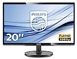 Philips 200V4QSBR/00 19,53 cm (19,5 Zoll) Monitor (VGA, DVI, MVA Panel, 1920 x 1080, ohne Lautsprecher) schw
