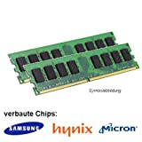 4GB (2X 2GB) DDR2 800MHz (PC2 6400U) LO Dimm Computer PC Desktop Arbeitsspeicher RAM Memory Samsung Hynix M
