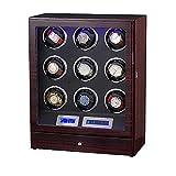WTZ012 Uhrenbeweger mit 9 Rotoren, vollautomatisch, mechanisch, mit Schmuckschatulle, WTZ012