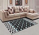 Liveinu Modern Teppich mit Anti-Rutsch Unterstützung Abwaschbarer Kurzflor Teppich Fußmatten für Wohnzimmer, Esszimmer, Schlafzimmer oder Kinderzimmer 40x60cm XY007-4