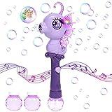 vamei Seifenblasenmaschine Kinder Bubble Machine Automatischer Seepferdchen-Blasenmaschine Seifenblasen Stab Seifenblasenpistole mit Musik und Licht Geschenk Sommer Draussen Spielzeug für Kinder