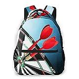 USGYY Rucksack Männer Damen Dartscheibe 1, Laptop Rucksäcke, Kinderrucksack Schulrucksack Daypack für Jungen Mädchen