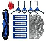 DingGreat Ersatzteil Kits für Eufy RoboVac G30 & Eufy RoboVac G10 Hybrid Saugroboter - 1 Hauptbürste, 4 Seitenbürsten, 4 HEPA Filters, 4 Mikrofasermopptuch, 1 Reinigungsbürste