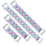 UISEBRT LED Aquarium RGB Beleuchtung 18W - Aquarium Pflanzen Lampe mit Verstellbarer Halterung für 75cm-95cm Aquarium (18W,75cm-95cm)