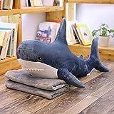 Mhtop Weiche Riesenhai Kissen Plüschtiere Kuscheltierpuppen Russland Plüsch Hai Spielzeug Fischkissen Geschenk für Kinder 60/80/100 / 140cm