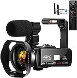 Camcorder Videokamera 4K HD 48MP Camcorder 3.0'HD Touchscreen Videokamera für YouTube Digitalkamera Nachtsicht Camcorder Full HD mit Mikrofon & WiFi