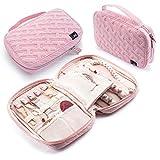 Mindspace Reise-Schmuck-Organizer für Damen – Schmuckrolle, Reisetasche zum Aufbewahren von Schmuck für viele Verwendungszwecke blush