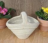 Blumentopf Korb ca. 24 cm, gewollt rustikal - echt Terrakotta Garten Terracotta Dek