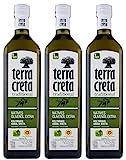 3x 1,0l Terra Creta Olivenöl P.D.O. Kolymvari | Extra natives Olivenöl von Kreta | + 1 x 20ml Olivenöl Probe aus G