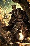 Alter Obi Wan Kenobi Star Wars Diy Malen nach Zahlen Erwachsene für Kinder Handgemalt ölgemälde Kits Küche Stiften auf Vorgedruckt Geschenk Leinwand Anfänger Farbe Acryl Malerei ohne Rahmen 40X50CM