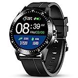 GOKOO Smartwatch Herren 1.28inch Full-Touchscreen 24 Sportmodus Fitness Tracker Schrittzähler Pulsuhren Schlafmonitor Blutdruck Messgeräte Monitoring Aktivitätstracker für Männer iOS Android