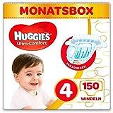 Huggies Windeln Ultra Comfort Baby Größe 4 Monatsbox, 1er Pack (1 x 150 Stück) 3 x 50 Stück