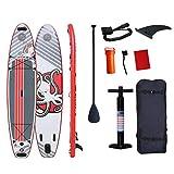 MXSXN SUP Board Aufblasbare Stand Up Paddle Board Mit Komplettem Zubehör & Wasserdichter Rucksack Paddelboard Surfboard Fürjugendliche Erwachsene Im Fluss Ozean Und See