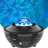 LED Sternenhimmel Projektor, Amouhom Ozeanwellen Projektor mit Fernbedienung/Bluetooth 5.0/360°Drehen /3 Helligkeitsstufen Beste Geschenke für Party Weihnachten Ostern