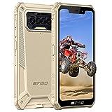 Outdoor Handy, IIIF150 B2021 Outdoor Smartphone Ohne Vertrag, 6GB RAM 64GB ROM, 8000mAh Akku, 4G Dual SIM, IP68 Wasserdichter, Android 10 Handy, 5,86 Zoll, NFC GPS, Face/Fingerprint ID, Gold