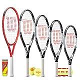 Wilson Federer Junior Tennisschläger mit 3 Tennisbällen, 66 cm
